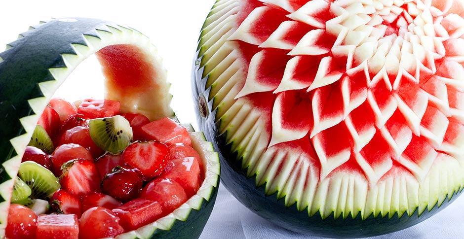Fruta tallada
