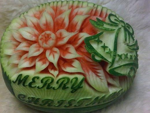 Fruta Tallada Para Navidad