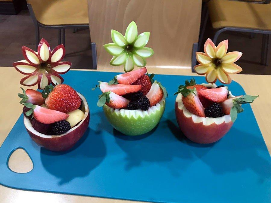 Convierte las manzanas en cestos de fruta